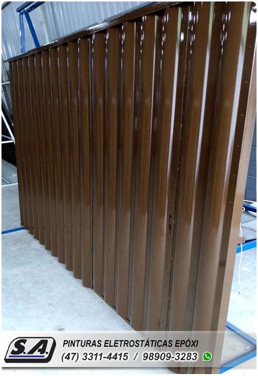 pintura eletrostática bombinhas porto belo gravatá portão portões de garagem ferro portas galvanizado grades metal automotiva aluminio preço barata