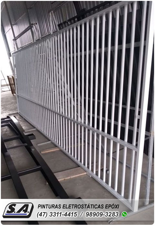 pintura eletrostática itajaí portão portões de garagem ferro portas galvanizado grades metal automotiva aluminio preço barata navegantes barra velha piçarras gravatá sc